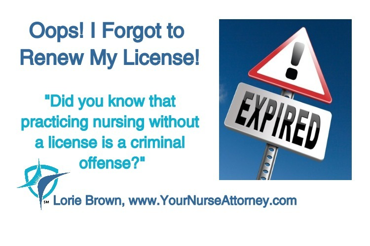 oops! i forgot to renew my license! - brown law office